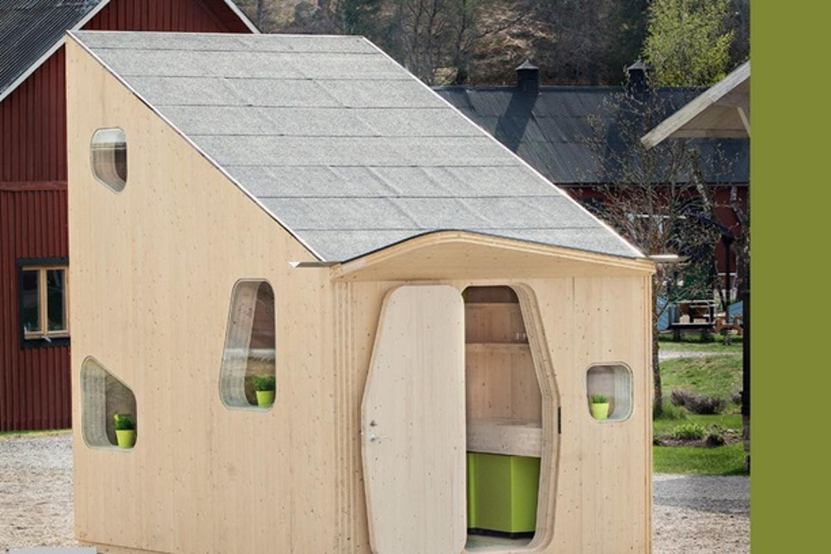 Swedish architectural firm Tengbom has come up with an accommodation model that squeezes student living into a compact 107 sq. ft footprint