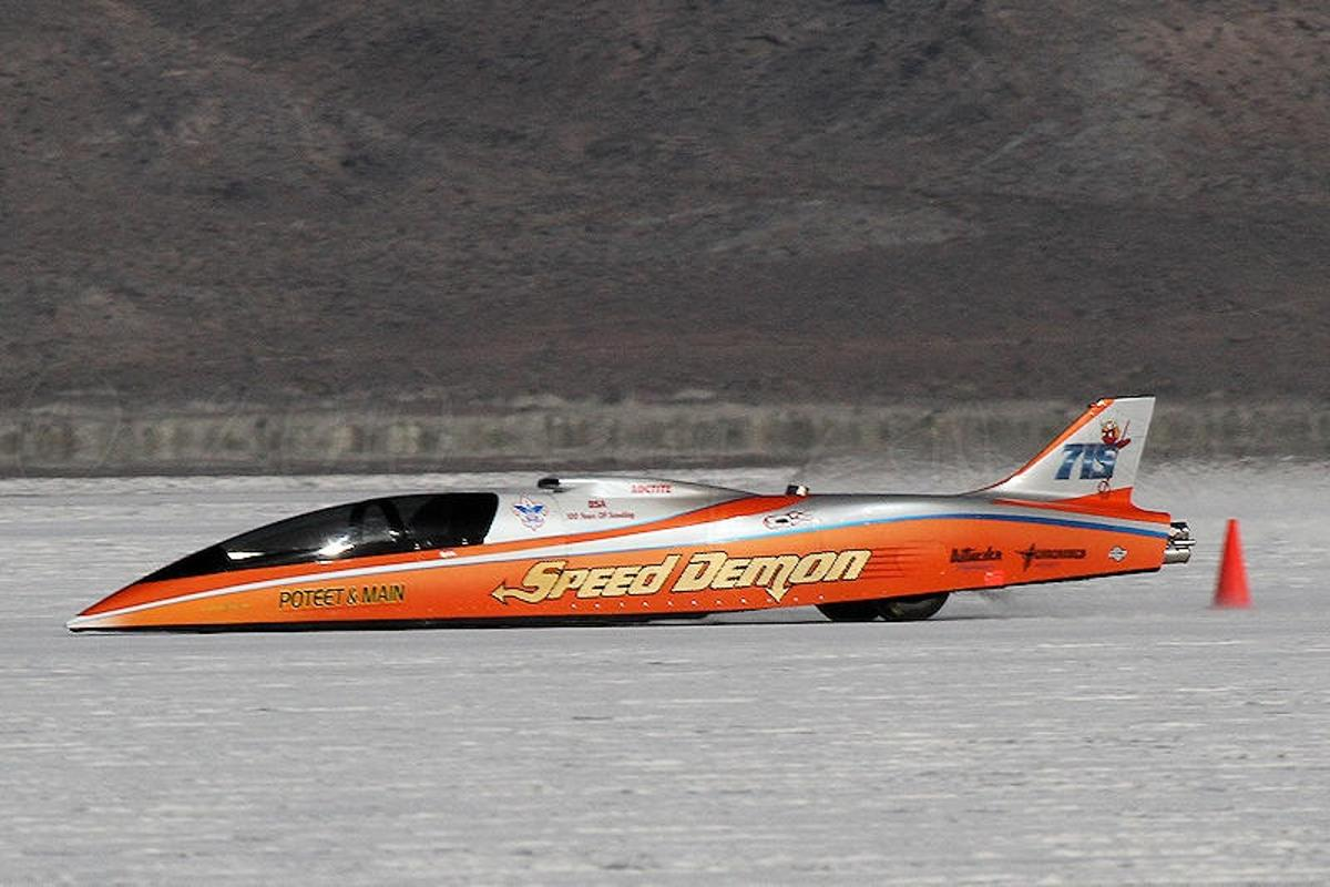 Team Steam USA's campaign to break the land speed record for steam-powered vehicles has received a shot in the arm, having been granted the use of construction molds from the Speed Demon streamliner (Photo: Business Wire)
