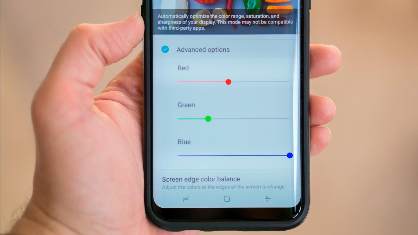 How To Fix Red Tint Or Personalize White Balance On The Galaxy S8 S Screen