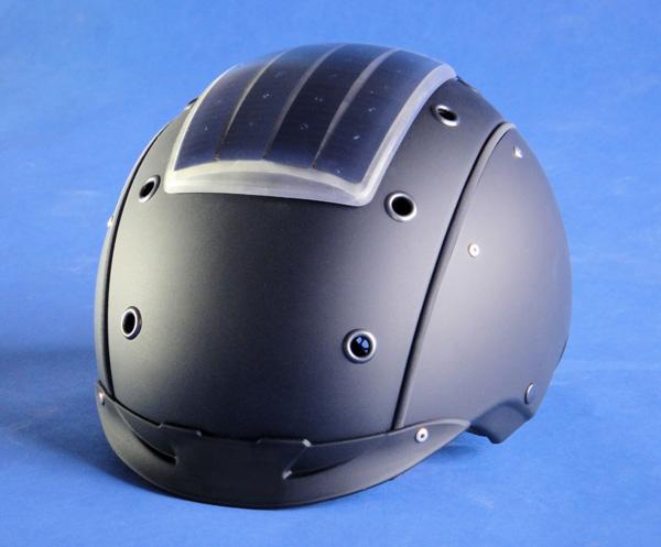Fraunhofer's admittedly somewhat goofy-looking prototype solar ski helmet
