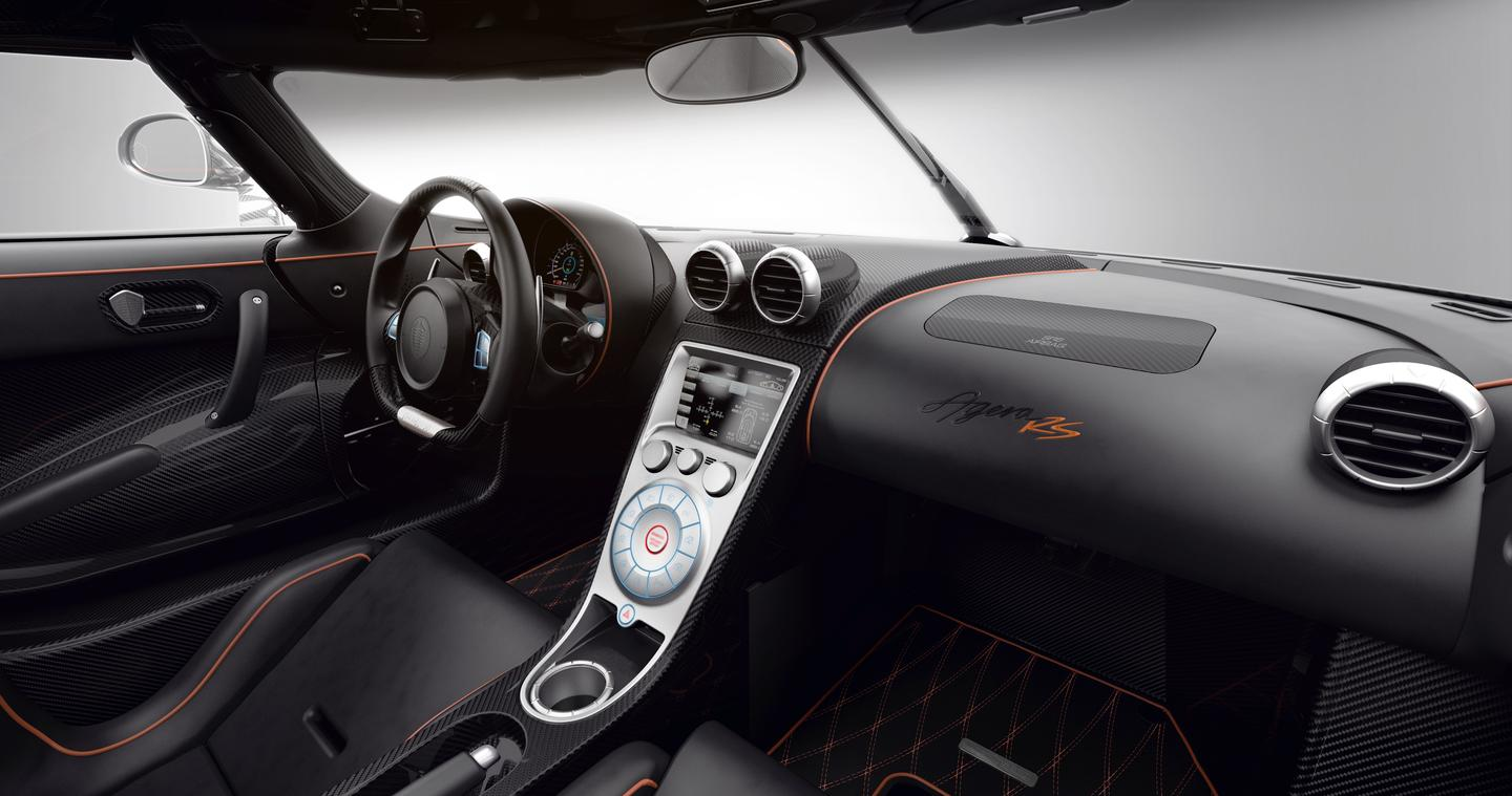 The office of the Koenigsegg Agera RS, high-speed luxury