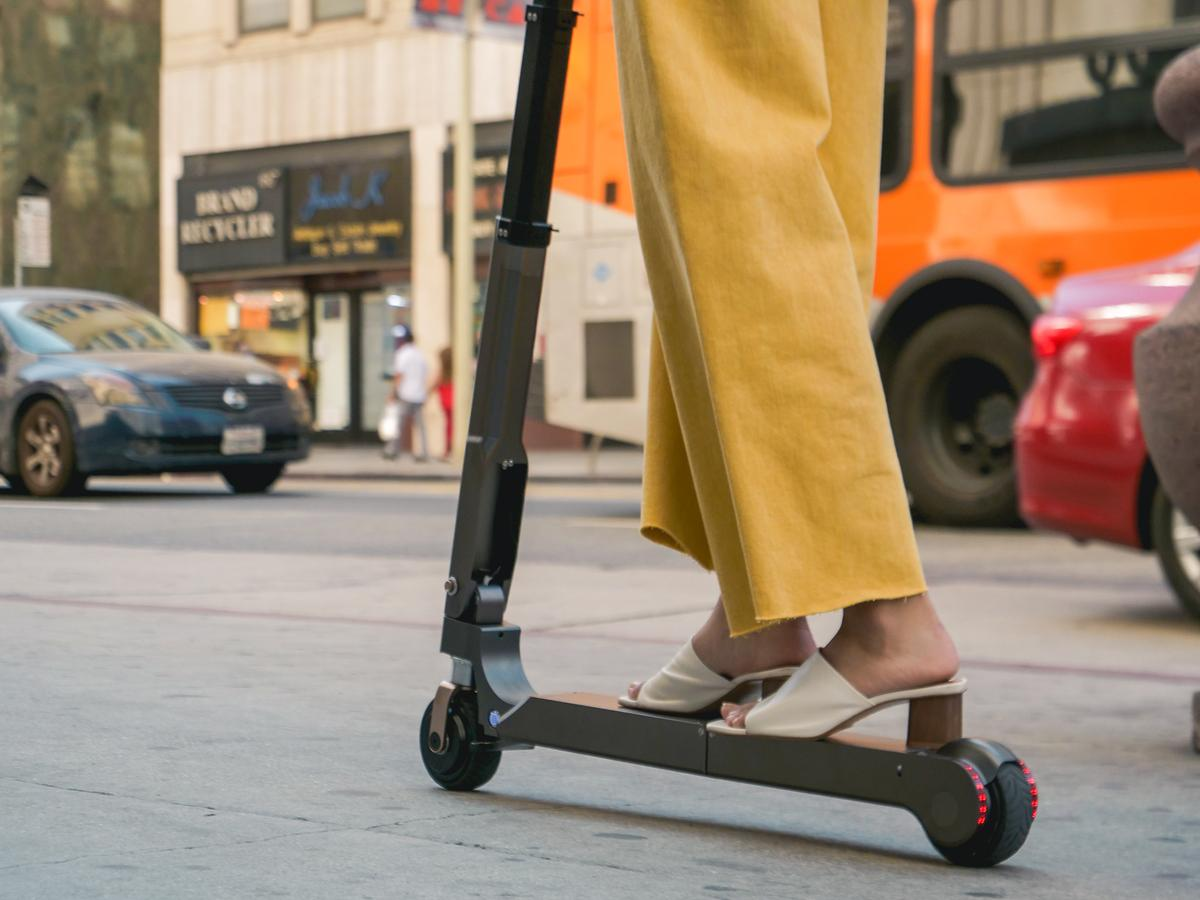 Hyundai's scooter can reach a top speed of 20 km/h (12.4 mph)