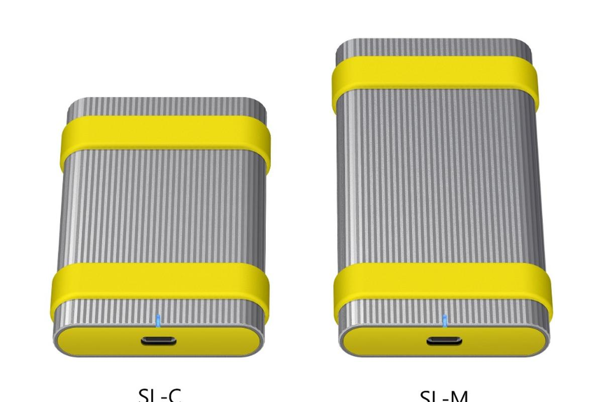 Sony's SL-M (right) and SL-C (left rugged, fast and secure external SSDs will be available in 500 GB, 1 TB and 3 TB storage capacities