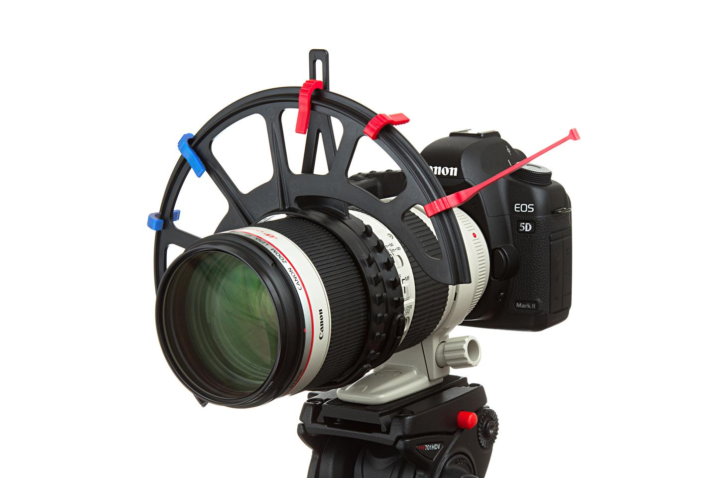 FocusMaker attaches to the focus ring of any DSLR lens