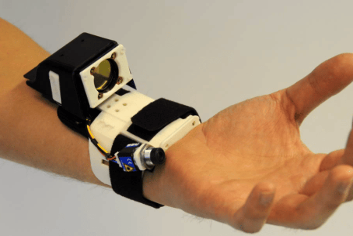 The Digits system can detect hand movements without external infrastructure