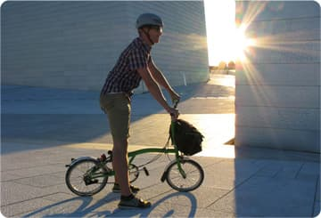The Brompton Dock is a 40-bay storage unit that dispenses folding bicycles to customers, who rent the bikes by the day