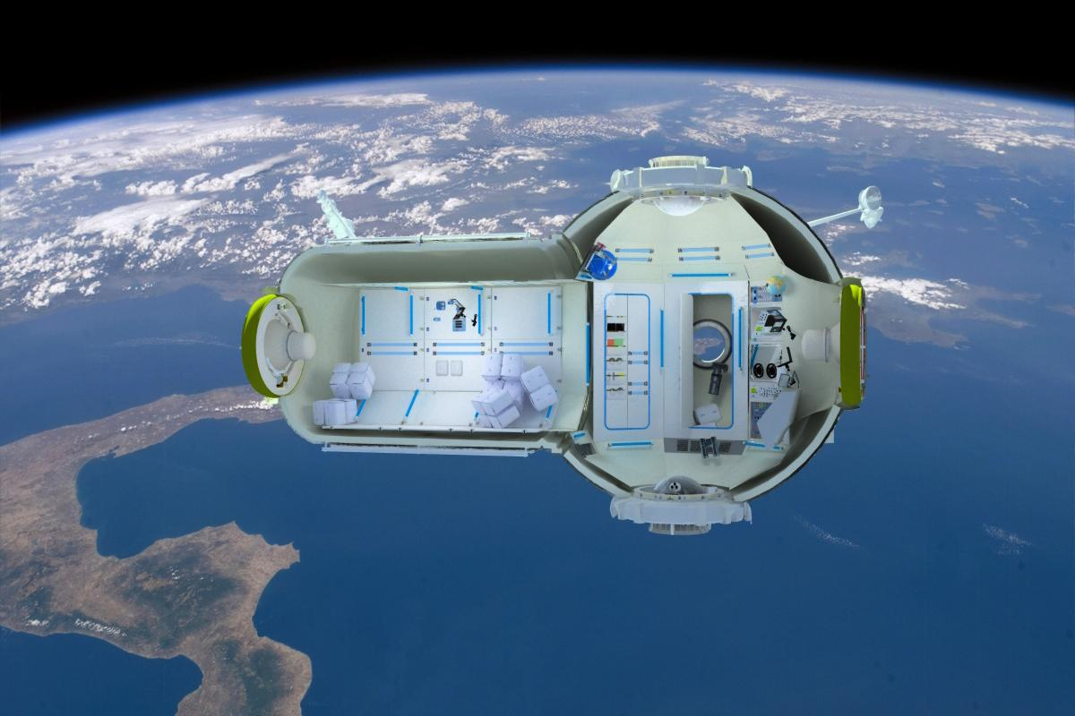 The Commercial Space Station In Section