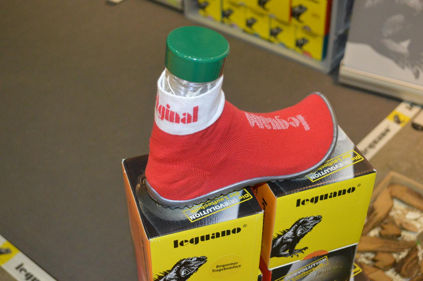 The barefoot-leguano shoe is a sock with a studded PVC sole