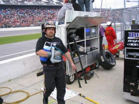 AVAcore's Core Control cooling glove, here in use by pit crew at the Daytona ARCA race.