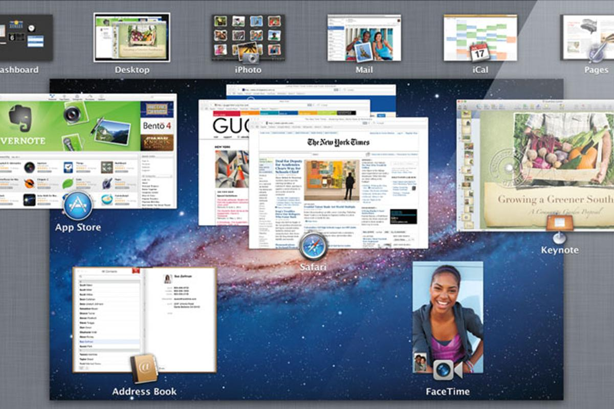Mac OS X Lion sees over 250 new features including Mission Control, which merges Exposé, Spaces and Dashboard functionality