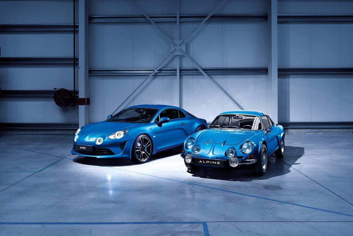 Like father, like son?The new AlpineA110 next to the original