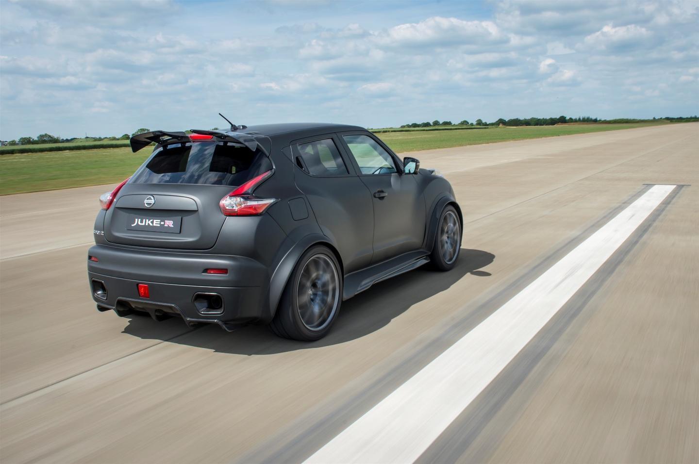 The new Juke-R gets an engine upgrade from the GT-R Nismo, a revised body from the 2015 Juke, and some upgrades all its own