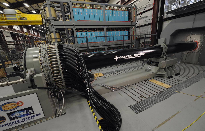 General Atomics' electromagnetic railgun prototype