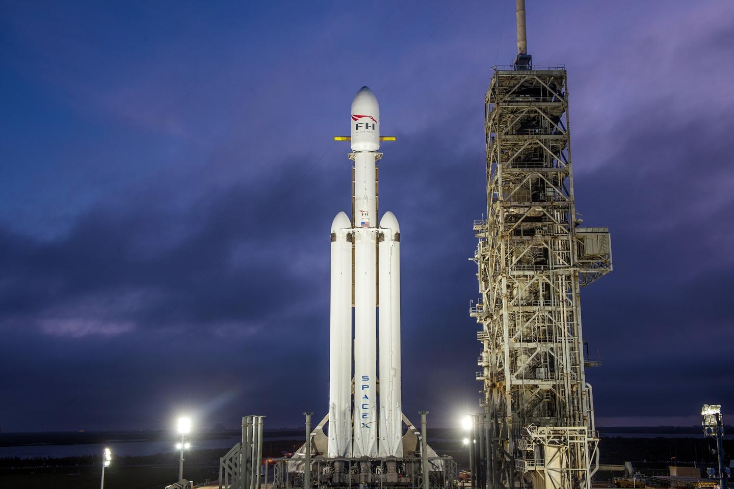 SpaceX's Falcon Heavy rocket was built to carry humans into deep space