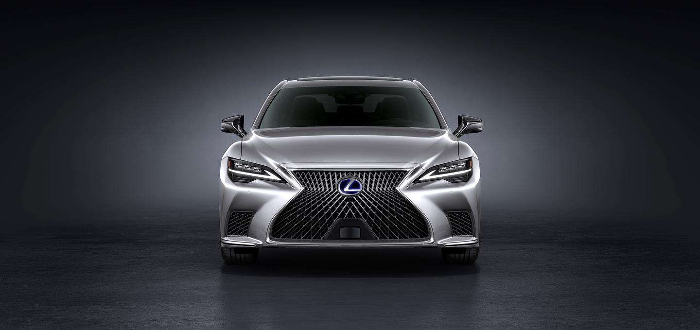 Front view of the 2021 Lexus LS