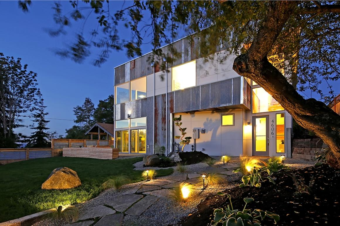 Reclaimed Modern is a near net zero home that makes use of recycled materials