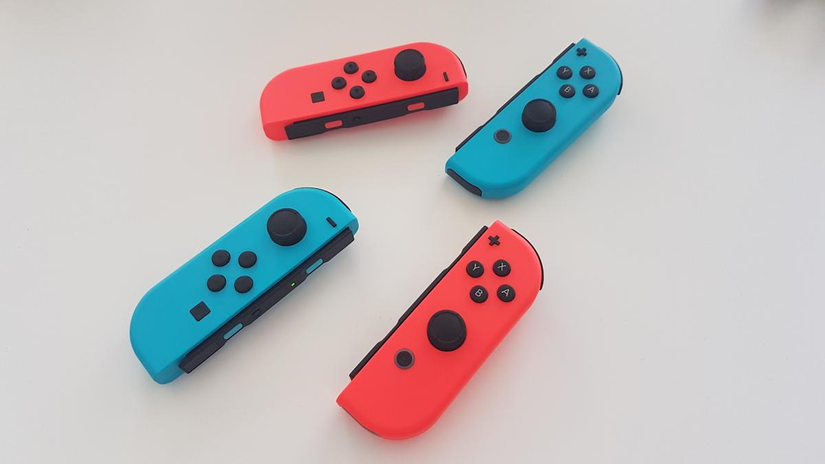 The Joy-Cons can be turned sideways like a regular controller, or swung around for motion input