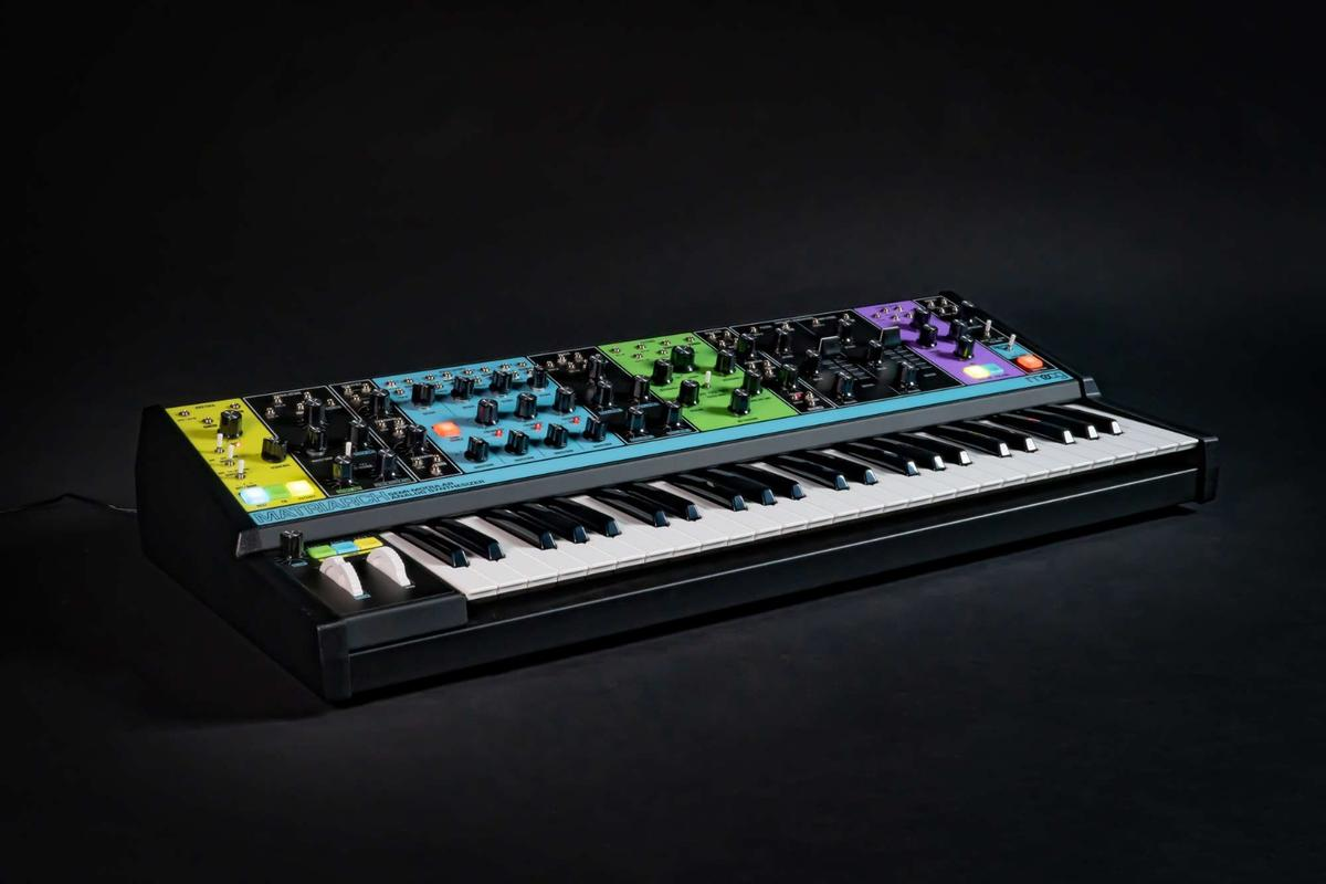 The Moog Matriarch can produce chord patterns without cabling between modules, but the real fun starts when patching between its 90 patch points