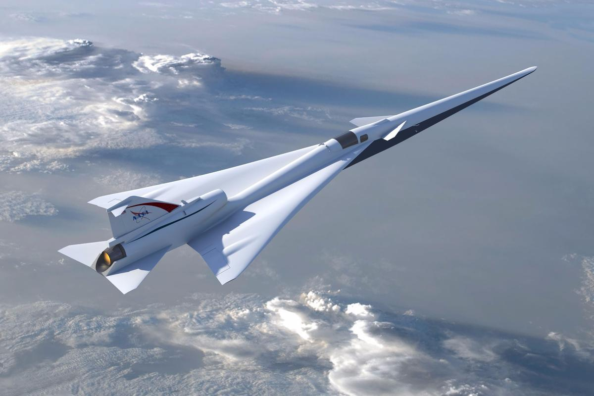 Illustration of NASA's planned Low Boom Flight Demonstration aircraft as outlined during the project's Preliminary Design Review
