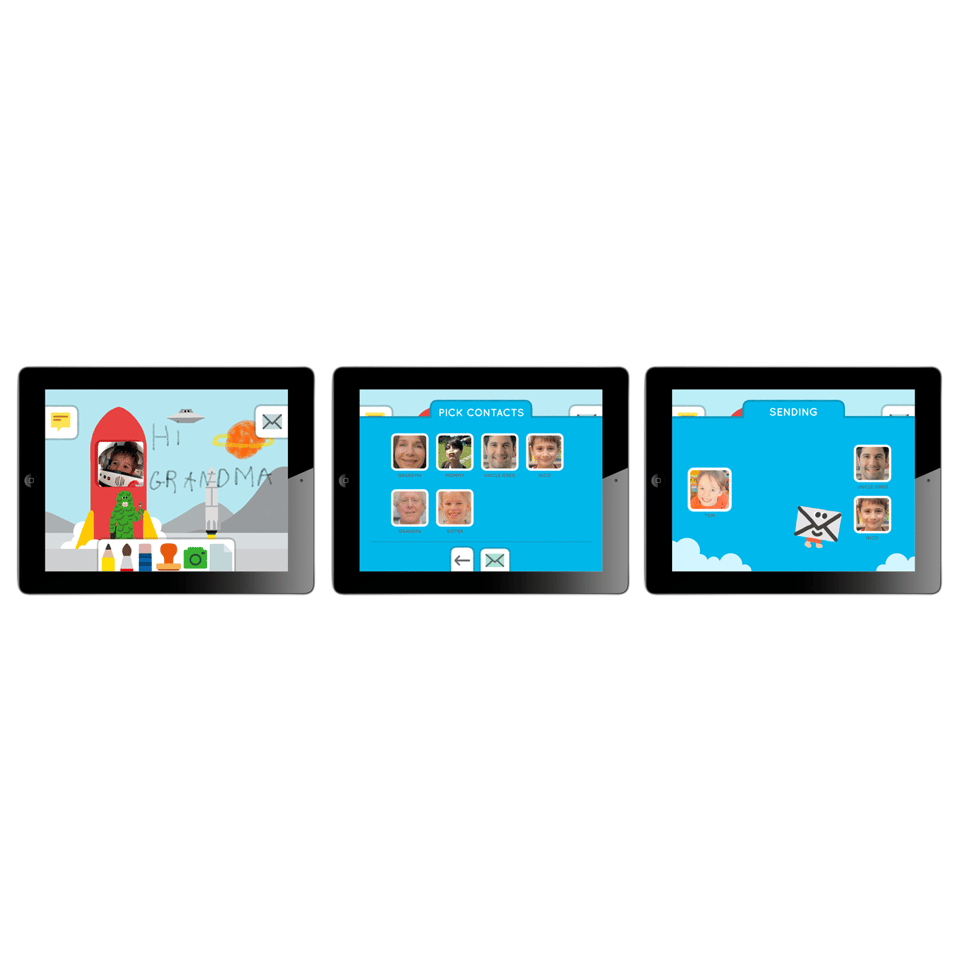 Maily is an iPad app which gives children from the age of four a simple and secure email account which is managed and monitored by their parents