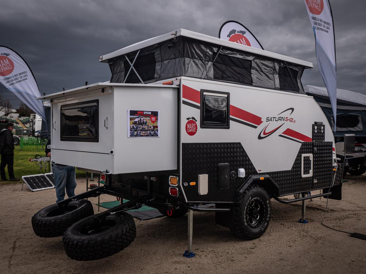 The Mars Saturn 13 on display at the National 4x4 Ourdoors Show in Melbourne