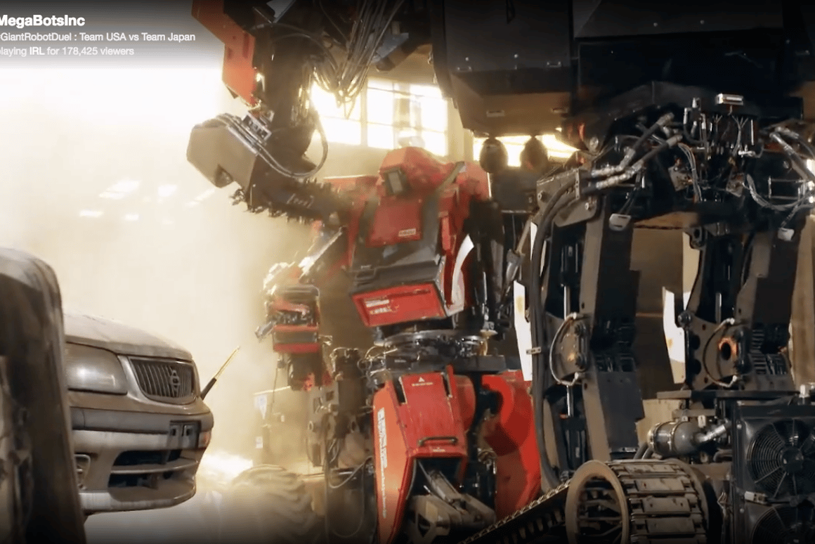 MegaBots' Eagle Prime vs. Suidobashi's Kuratas:This first giant robot duelwas a lot more fun to watch thanyoumight have expected