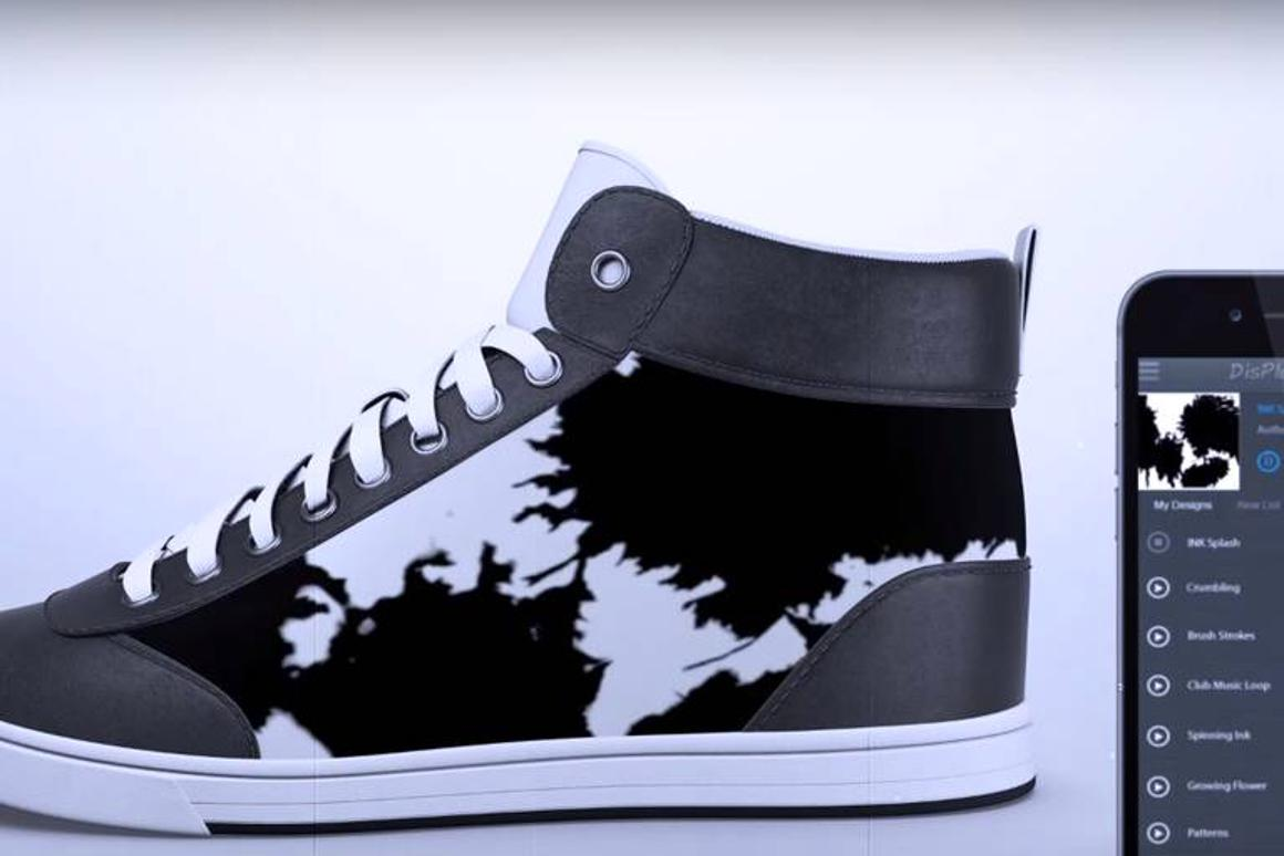 ShiftWear sneakers are designed with flexible E ink displays that can change images and designs via mobile app