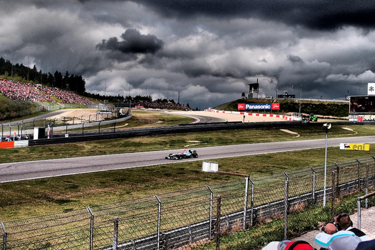 Nurburgring is as ominous as the clouds in the background (Photo: VnGrijl)