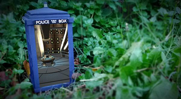 The augmented reality-enhanced TARDIS model (Photo: Greg Kumparak)