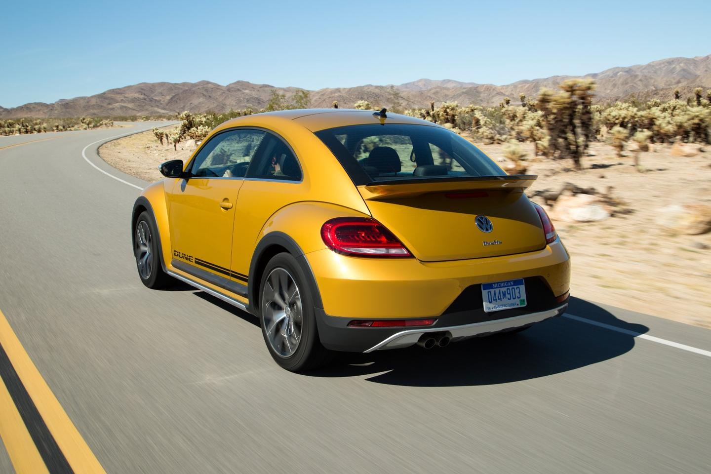 The Beetle Dune has a bigger rear spoiler to set it apart from garden-variety Bugs on the road