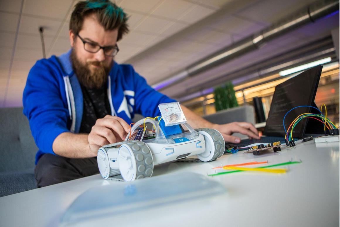 The Sphero Rvr robot has been designed as a blank template for hacker creativity