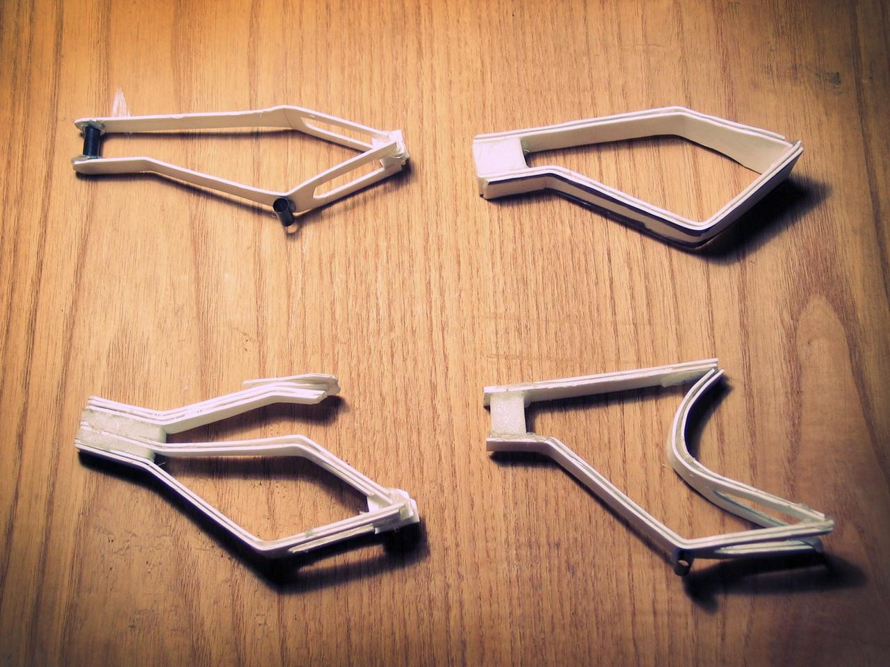 Models of possible frame designs for Bonobo