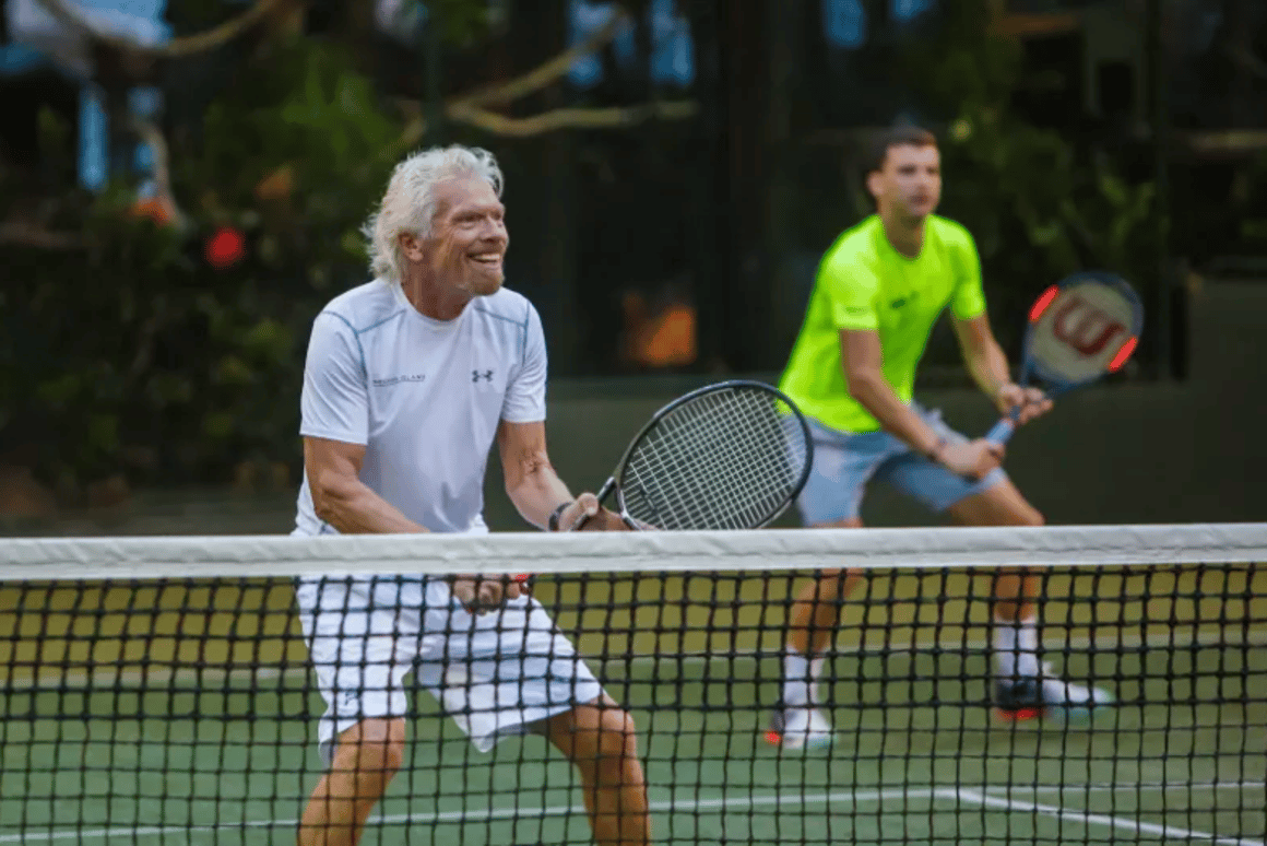 Branson is already known to lead an active lifestyle, with tennis, swimming and kitesurfing sessions among his regular activities