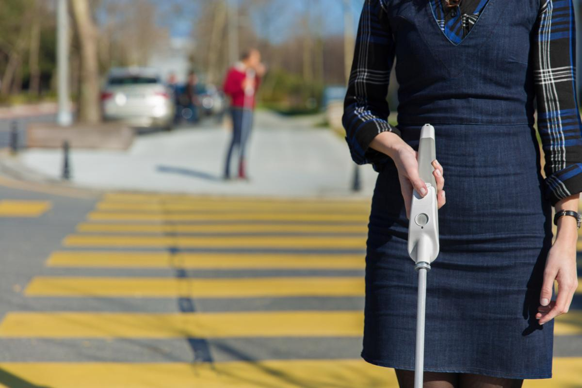 The WeWALK Smart Cane is equipped with an ultrasound sensor, along with a few other goodies