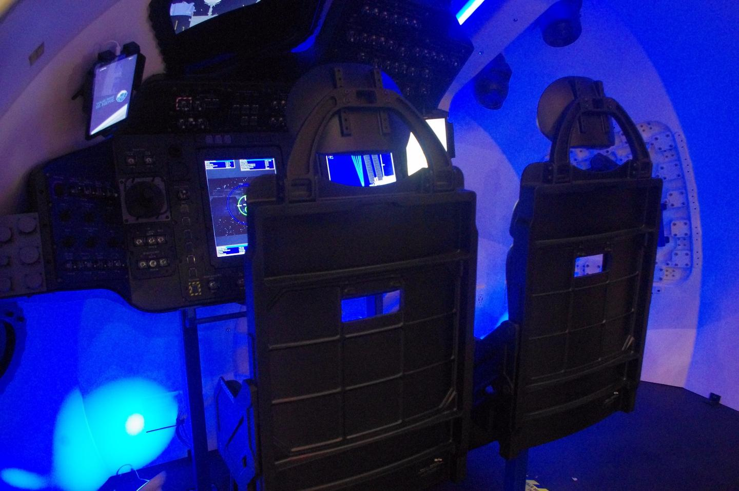 The inside of Boeing's Starliner at the 33rd annual Space Symposium