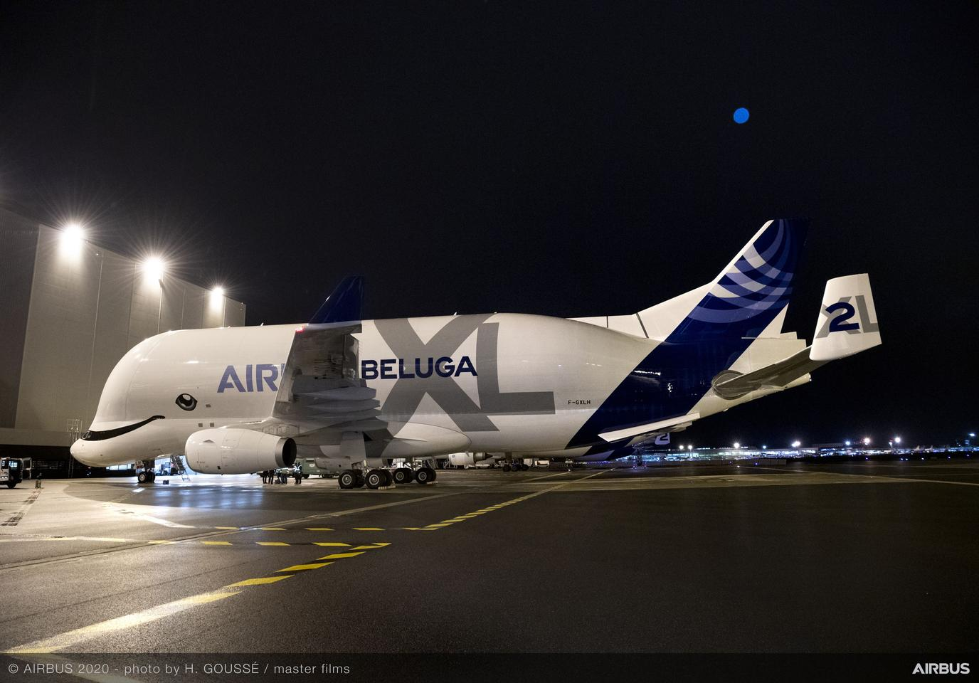 A giant cargo plane designed to carry large aircraft pieces between manufacturing facilities for Airbus has entered service