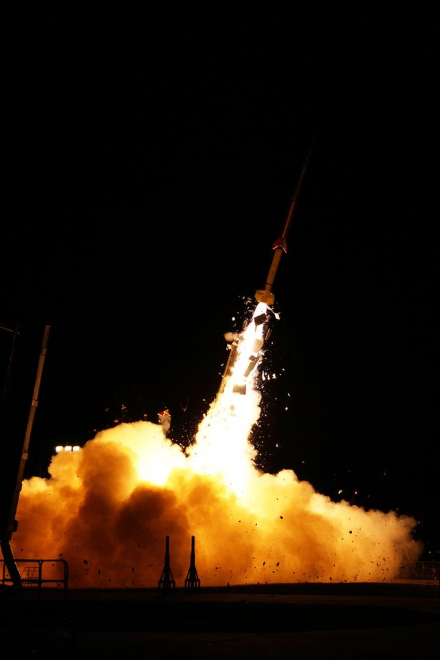 The first ATREX rocket launched at 4:58 a.m. EDT from NASA's Wallops Flight Facility in Virginia (Photo: NASA/Wallops)