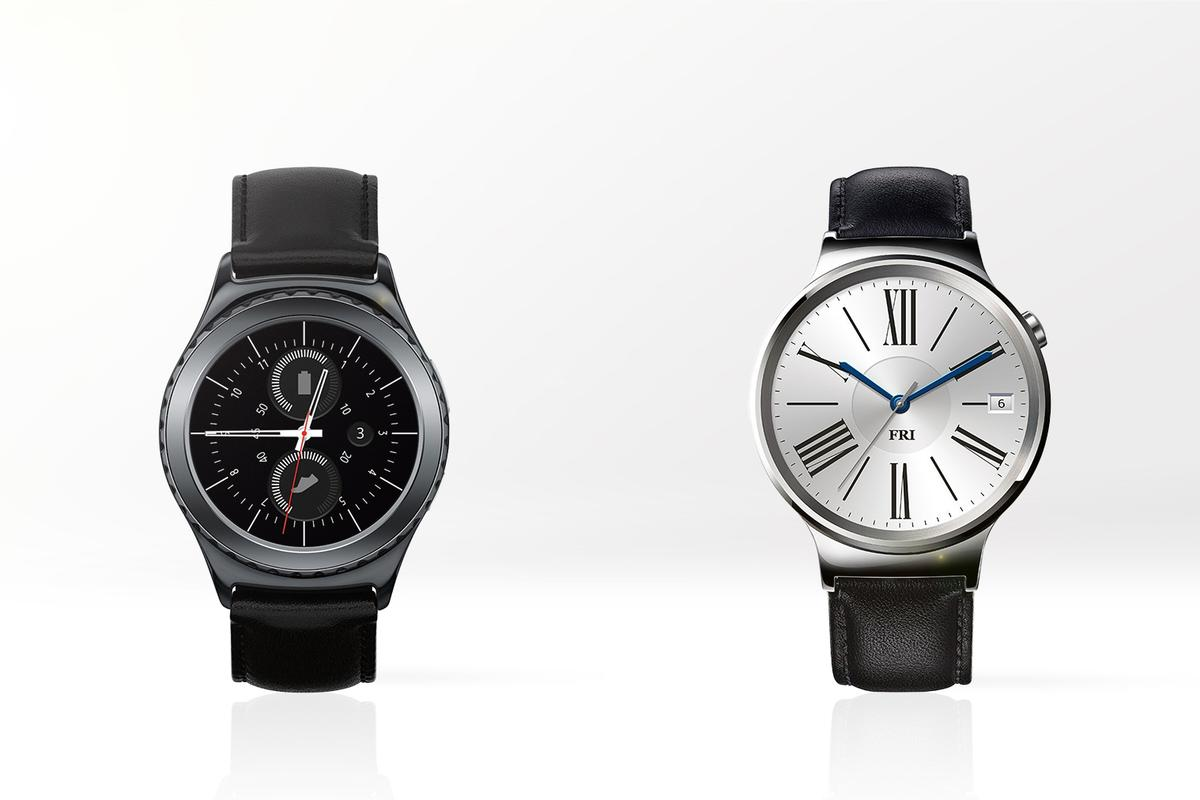 Gizmag compares the features and specs of the Samsung Gear S2 (left) and Huawei Watch
