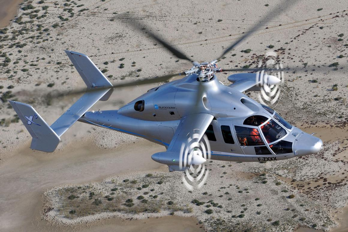 The Eurocopter X3 demonstrator test flight (Image: Patrick Penna)