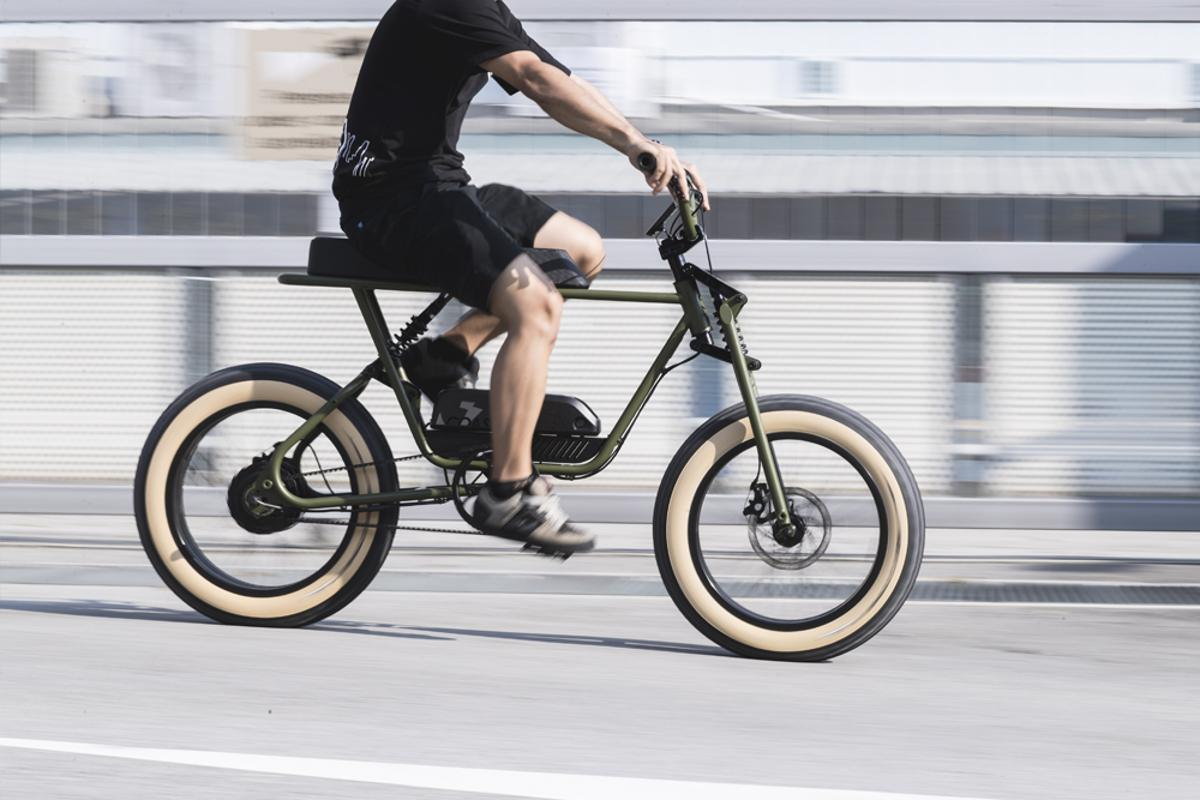 The Buzzraw X series e-bikes feature full suspension with 80 mm of travel front and rear