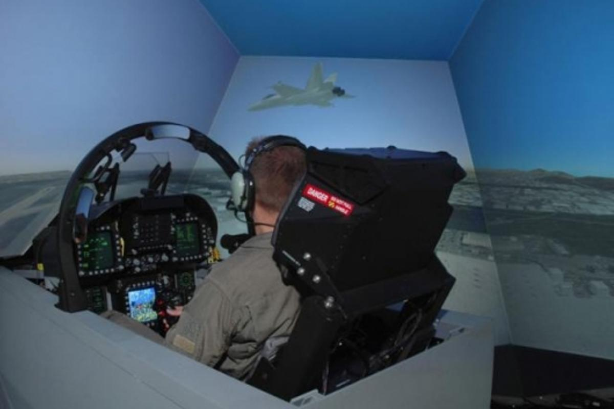 F/A-18C/D Aircrew Flight Trainer in use by a US Marine pilot