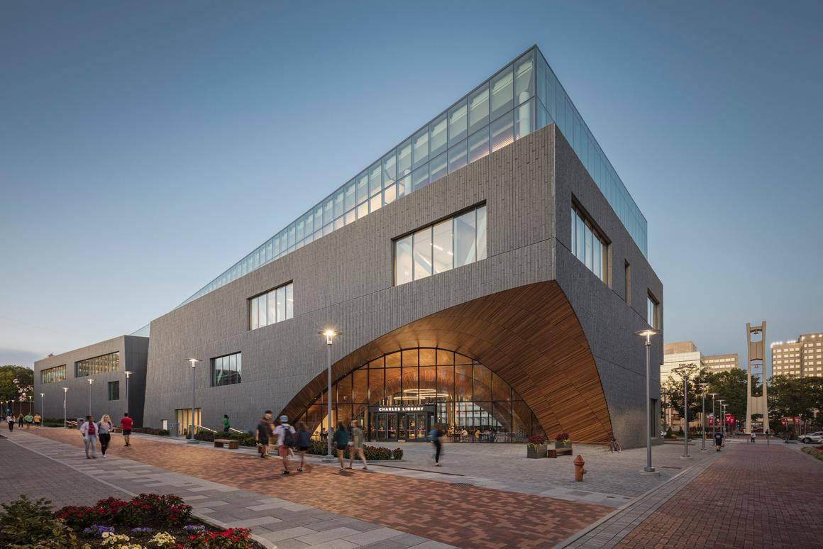 The Charles Library at Temple University was completed in August and had a construction cost of US$135 million