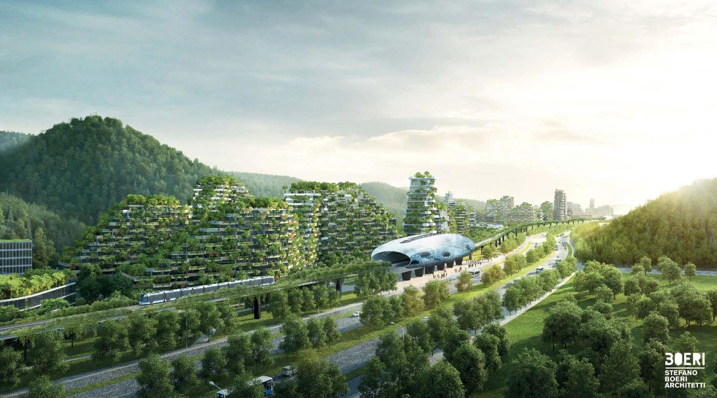 The Liuzhou Forest City will be built to the north of the existing city of Liuzhou