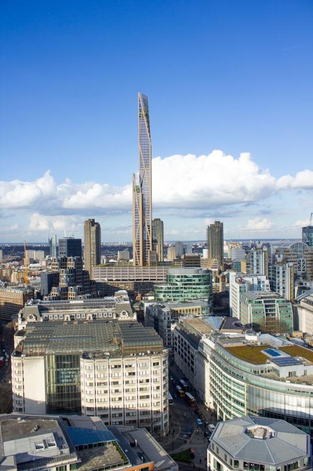 Should it go ahead, the tower would rise to a height of 300 m (984 ft)