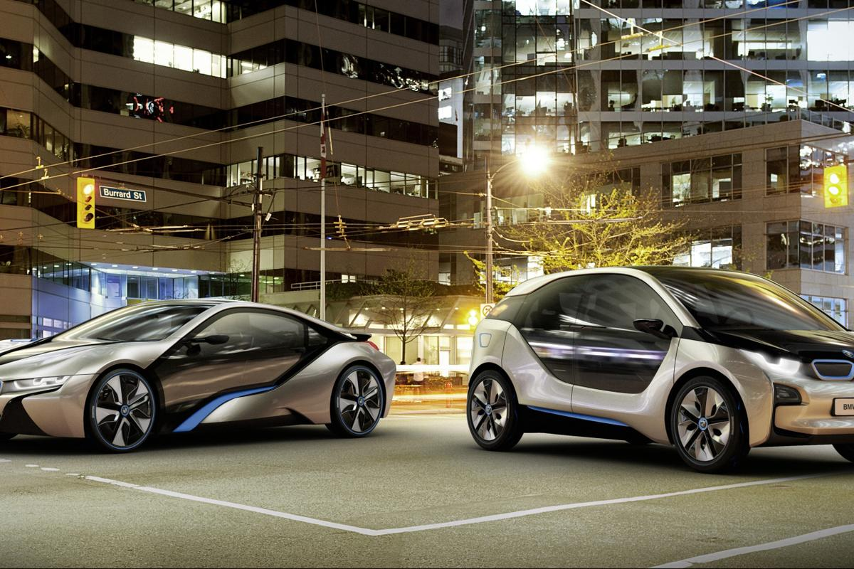 The BMW i8 (left) and i3 are just two concept cars that are set to go into production in the next couple of years