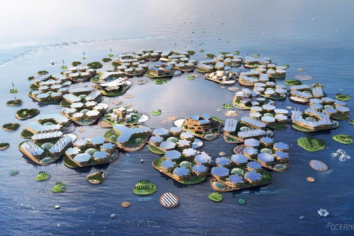 Oceanix City would measure 75 hectares (185 acres)