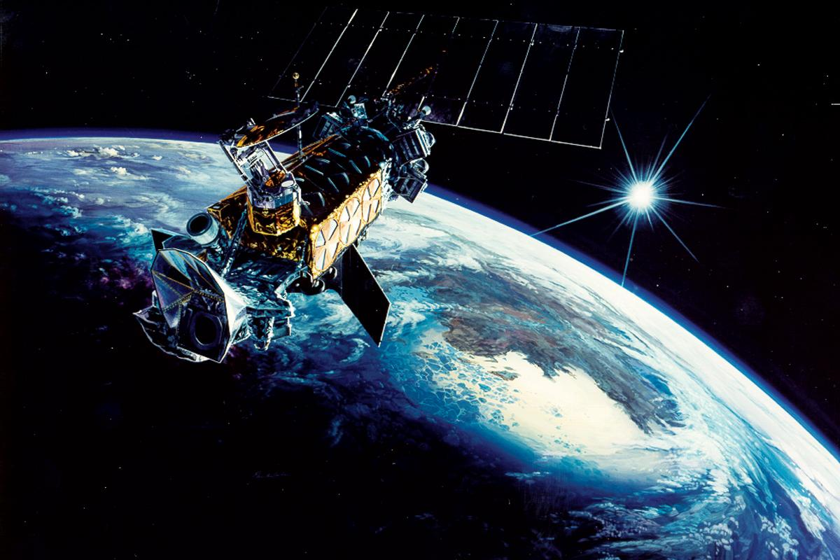 Artist's concept of the DMSP satellite (Image: US Air Force)