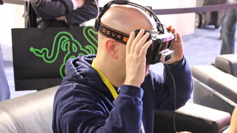 Gizmag takes the dev kit for Razer's open-source VR platform for a quick spin (Photo: Will Shanklin/Gizmag.com)