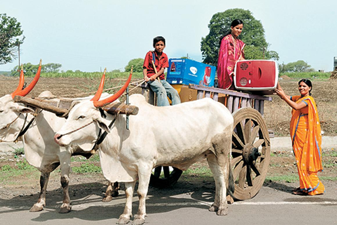ChotuKool being taken for field testing in rural India. (Photo: Godrej and Boyce)