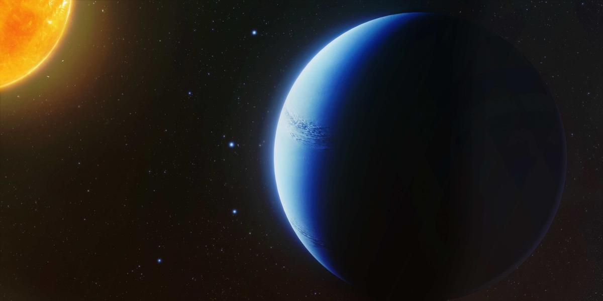 Artist's impression of the exoplanet WASP-96b